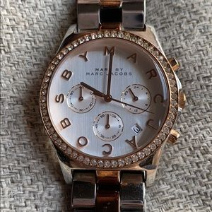 Marc Jacobs two tone silver and rose gold watch